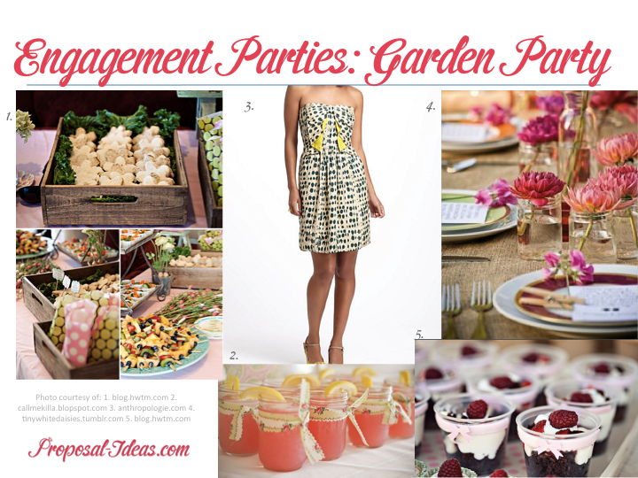 Engagement Parties Garden Party Proposal Ideas Blog