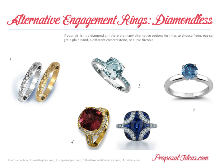 Alternative Diamond Rings Diamondless Proposal Ideas Blog
