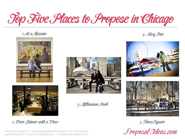 Top Five Places To Propose In Chicago Proposal Ideas Blog