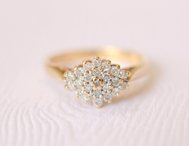 Cluster-diamond-engagement-ring