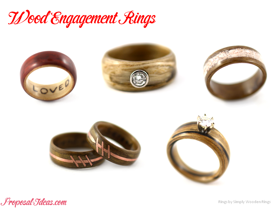 Diamond Ring Check Out These Pretty Ones From Simply Wooden Rings