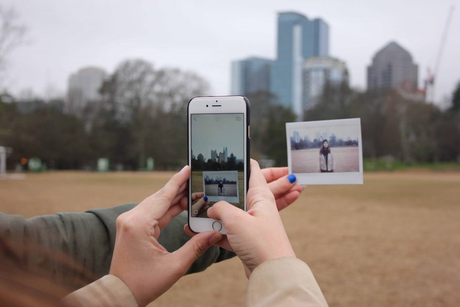 Poloroid photos with proposal