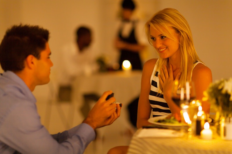 romantic dinner proposal idea