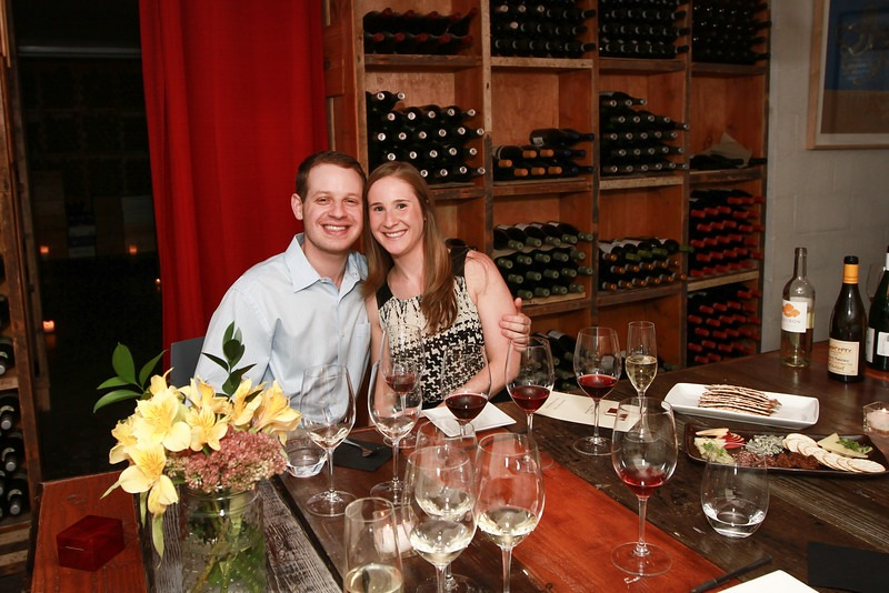 new york private wine tasting proposal idea