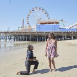santa monica pier marriage proposal