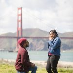 san francisco proposal idea at Golden Gate Bridge