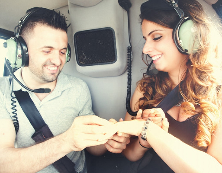New York Helicopter Marriage Proposal Creative Romantic Proposal