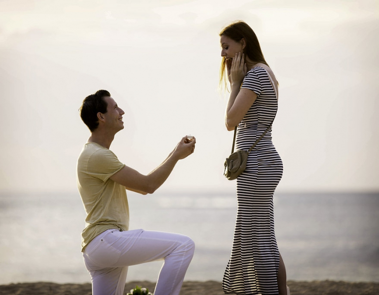 Turks And Caicos Romantic Beach Proposal Creative Romantic